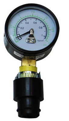 Manometer mit Leafield-Adapter